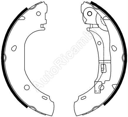 Brzdové čelisti Fiat Ducato 244 - bubnová brzda