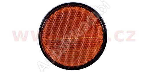 univerzální odrazka kulatá, plastový držák se šroubem, oranžová (průměr 80mm) TRUCK