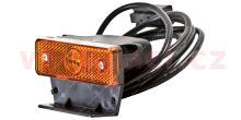 boční poziční světlo oranžové s 150cm kabelem s koncovkou CLICK-IN a pravoúhlým držákem 24