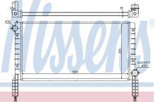 Chladič vody Fiat Doblo 2000-05 1,2 i s A / C