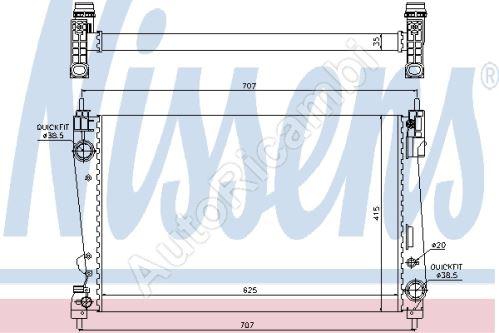 Chladič vody Fiat Doblo 2010 1,6 /2,0 MTJ, 1,4  - jet