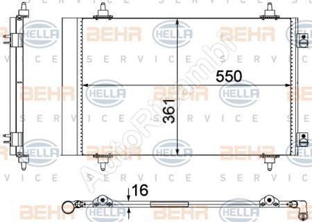 Kondenzátor klimatizace Fiat Scudo 07>