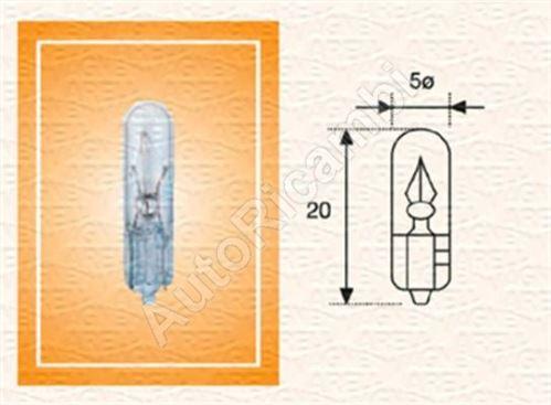 Žárovka 24V 1,2 W W2x4, 6D celoskleněný