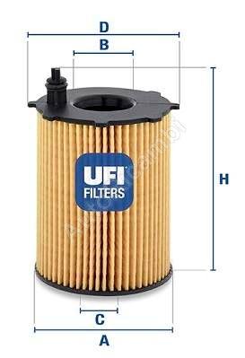 Olejový filtr Fiat Scudo 1,6JTD 07> Euro 4,5