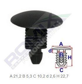 Plastová příchytka Fiat Ducato 230/244/250/2014> - balení 10ks