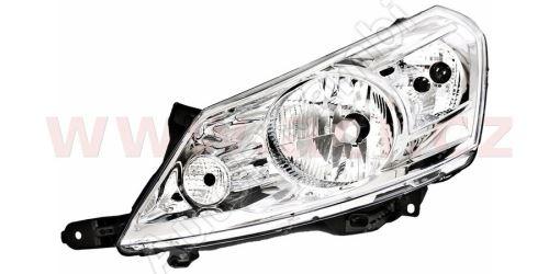 Svetlomet Fiat Scudo 07> H4, ľavý - elektricky ovládaný + motorček