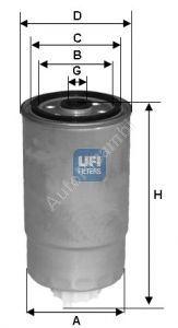 Palivový filtr Alfa 147, Alfa 156 1,9JTD