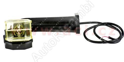 obrysové světlo červeno-bílé (žluté sklo) s gumovým pravoúhlým ramenem a 70cm kabelem 24V
