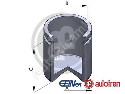 Piest brzdového strmeňa Fiat Ducato 230 - d=40mm, h=53mm