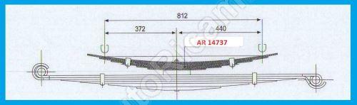 Listové pero Iveco Daily 35/50C Valník - přídavné 6 listové