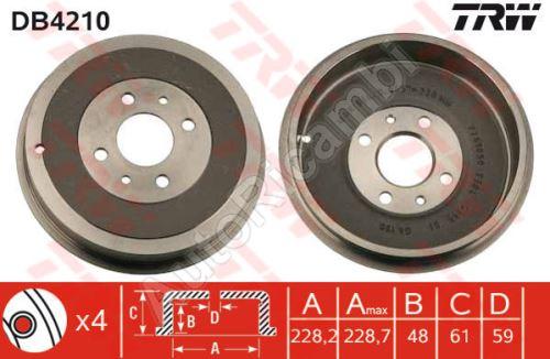 Brzdový buben Fiat Doblo 2000-09 zadní