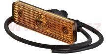 boční poziční světlo oranžové s 50cm kabelem 24V LED TRUCK  L=P