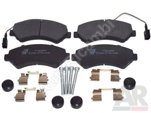 Brzdové destičky Fiat Ducato 250/2014> přední Q17H - dva senzory