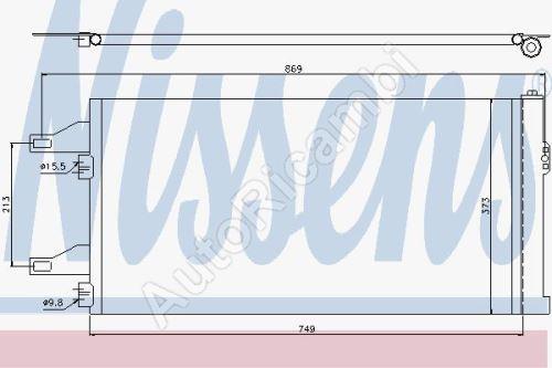 Kondenzátor klimatizace Fiat Ducato 250
