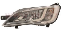 Svetlomet Fiat Ducato 2014 ľavé H7+H7 chromové OEM