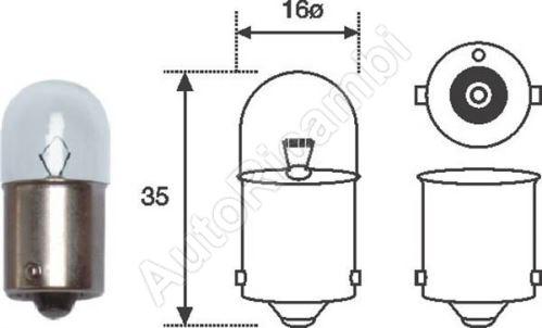 Žárovka 12V 10W R10W