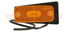 boční poziční světlo obdélníkové oranžové LED s držákem 12/24V TRUCK  L=P