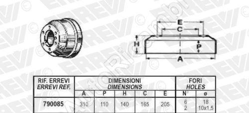 Brzdový bubon Iveco TurboDaily 59.12