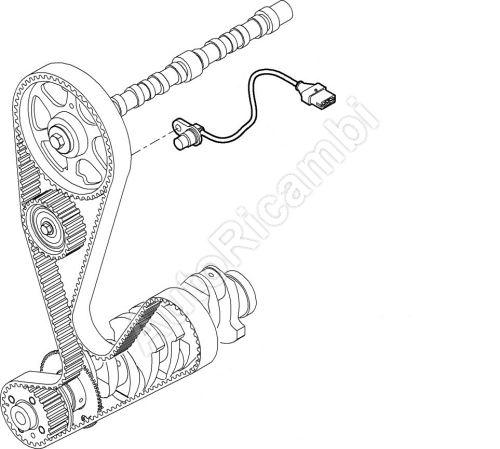 Snímač otáček vačkového hřídele Fiat Ducato 244 2,3 do č. mot 144641