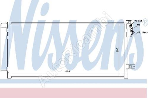 Chladič klimatizace Fiat Doblo 2010> - kondenzátor