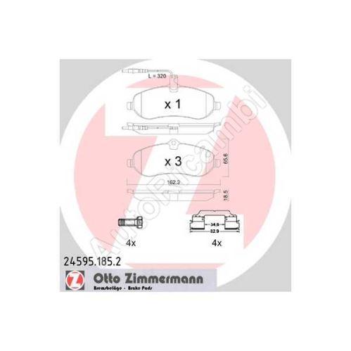 Brzdové destičky Fiat Scudo 07> přední - s příslušenstvím
