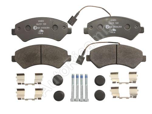 Brzdové destičky Fiat Ducato od 2006 přední Q17H, 2-snímače, s příslušenstvím