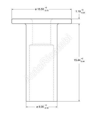 Nýt brzdového obložení Iveco Eurotech 8x15 mm