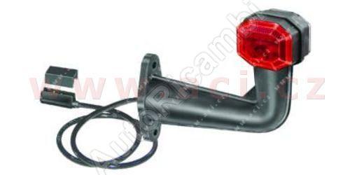 obrysové světlo červeno-bílé s gumovým pravoúhlým držákem a s 70cm kabelem s koncovkou TRU