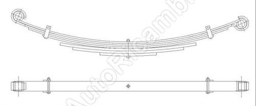 Listové pero Iveco Daily 50C valník 7-listové standardní pero