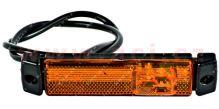 boční poziční světlo oranžové s 50cm kabelem 24V (3 LED diody) TRUCK  L=P