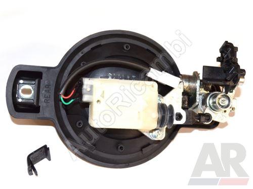Venkovní klika dveří Fiat Doblo 2000 zadní, levá + centrál - 2-křídlové dveře, bez vložky