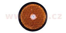 univerzální odrazka kulatá, se šroubem skrz střed, oranžová (průměr 60mm) TRUCK