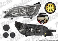 Světlomet Fiat Ducato 2014 levý H7 + H7 + LED černý rámeček bez jednotky