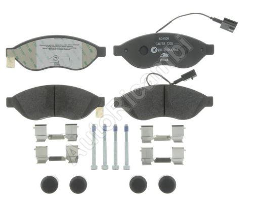Brzdové destičky Fiat Ducato 250/2014> přední Q11-17L - dva senzory