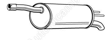 Tlumič výfuku Fiat Doblo 1,4 i / 1,6 i, 1,9 D