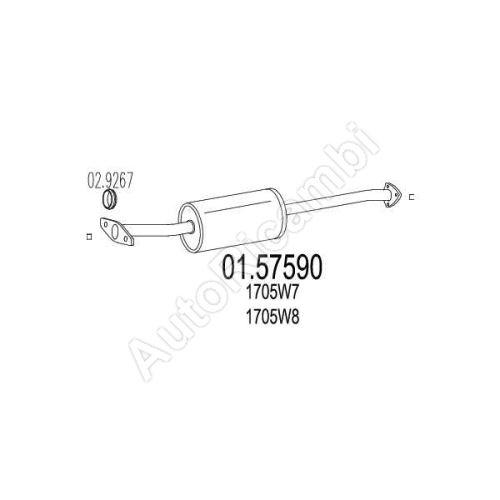 Stredný tlmič výfuku Fiat Ducato 230/Bxer/Jumper 94-00