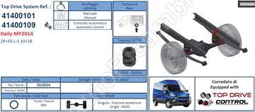 Doplňkové pružení Iveco Daily 2014 s kompresorem 29-35L/S-10-18